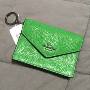 NWT gorgeous green keychain envelope card pouch